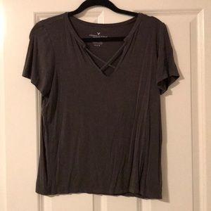 American Eagle Front Cross Top
